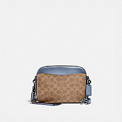 CAMERA BAG IN SIGNATURE CANVAS - V5/TAN BLUEBELL - COACH 31208