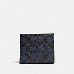 3-IN-1 WALLET IN SIGNATURE CANVAS - MIDNIGHT - COACH 31213