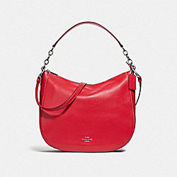 ELLE HOBO - SV/BRIGHT RED - COACH 31399