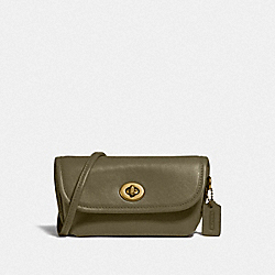 TURNLOCK FLARE BELT BAG - BRASS/WASHED UTILITY - COACH 315
