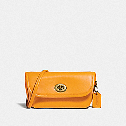 TURNLOCK FLARE BELT BAG - B4/BUTTERCUP - COACH 315