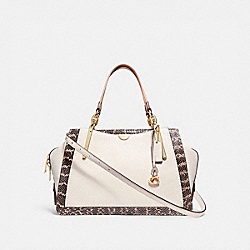 DREAMER 36 IN COLORBLOCK WITH SNAKESKIN DETAIL - CHALK MULTI/LIGHT GOLD - COACH 31645