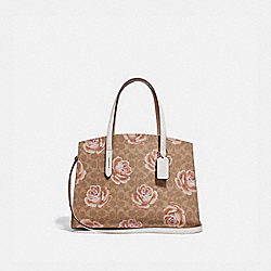 CHARLIE CARRYALL IN SIGNATURE ROSE PRINT - TAN/CHALK/BRASS - COACH 31667
