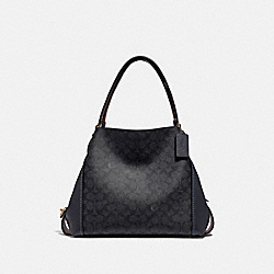 EDIE SHOULDER BAG 31 IN SIGNATURE CANVAS - LI/CHARCOAL MIDNIGHT NAVY - COACH 31698