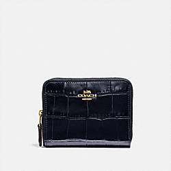 SMALL ZIP AROUND WALLET - LI/MIDNIGHT NAVY - COACH 31831