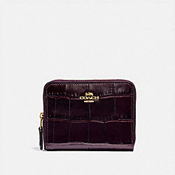SMALL ZIP AROUND WALLET - LI/PLUM - COACH 31831