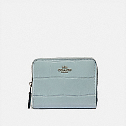 SMALL ZIP AROUND WALLET - SV/SKY - COACH 31831