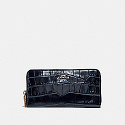 ACCORDION ZIP WALLET - LI/MIDNIGHT NAVY - COACH 31856