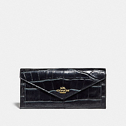 SOFT WALLET - LI/MIDNIGHT NAVY - COACH 31857