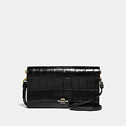 HAYDEN FOLDOVER CROSSBODY CLUTCH - BLACK/LIGHT GOLD - COACH 31862