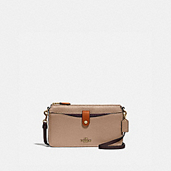 NOA POP-UP MESSENGER IN COLORBLOCK - B4/TAUPE GINGER MULTI - COACH 31864