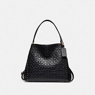 EDIE SHOULDER BAG 31 IN SIGNATURE LEATHER WITH RIVETS