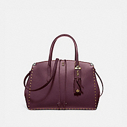 COOPER CARRYALL WITH RIVETS - OXBLOOD/BRASS - COACH 31932