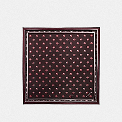 ROSE SILK SQUARE - OXBLOOD - COACH 32163