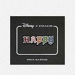 DISNEY X COACH HAPPY STICKER - BLACK MULTI - COACH 32515
