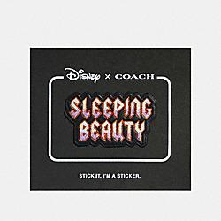 DISNEY X COACH SLEEPING BEAUTY STICKER - BLACK MULTI - COACH 32528