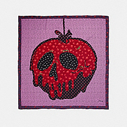 DISNEY X COACH POISON APPLE PATCHWORK SCARF - RED - COACH 32590