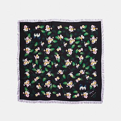 DISNEY X COACH 草原花卉流蘇圍巾