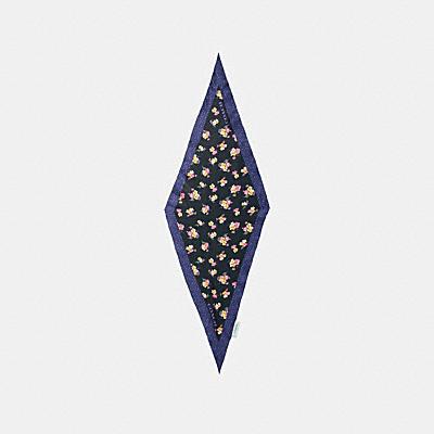 フォレスト フローラル プリント ダイヤモンド スカーフ