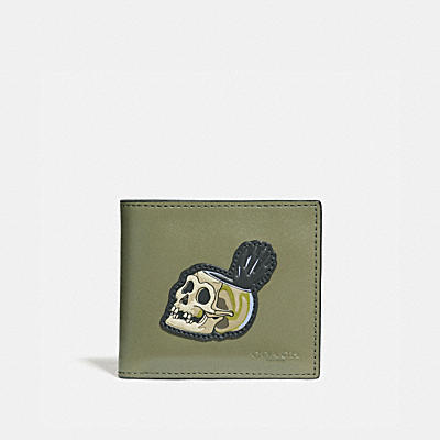DISNEY X COACH BILLFOLD(骷髏)雙摺皮夾