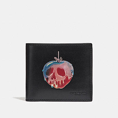 DISNEY X COACH POISON APPLE(毒蘋果)雙摺皮夾