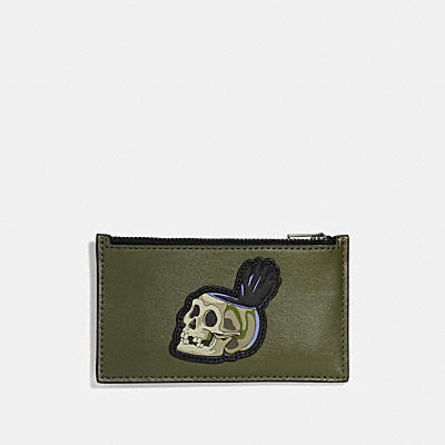 DISNEY X COACH SKULL(骷髏)拉鍊卡夾