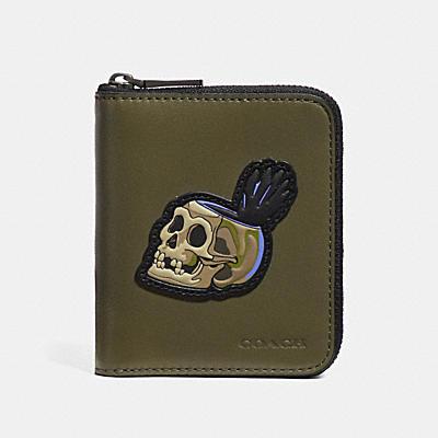 DISNEY X COACH SKULL(骷髏)小型拉鍊皮夾
