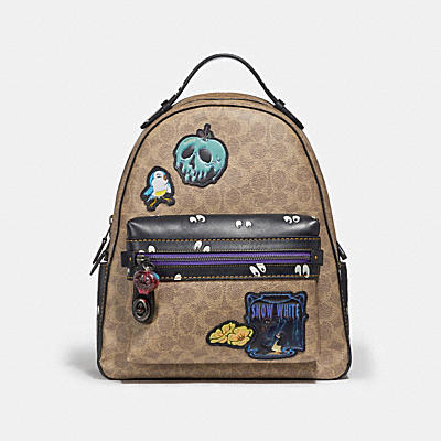 DISNEY X COACH CAMPUS 經典拼接後背包