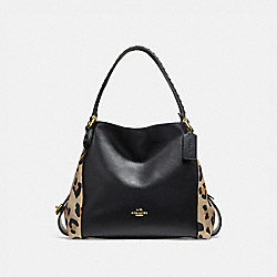 EDIE SHOULDER BAG 31 WITH BLOCKED LEOPARD PRINT - B4/LEOPARD - COACH 32728