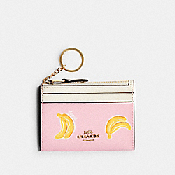 MINI SKINNY ID CASE WITH BANANA PRINT - IM/PINK LEMONADE MULTI - COACH 3304