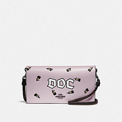 DISNEY X COACH DOC FOLDOVER CROSSBODY CLUTCH