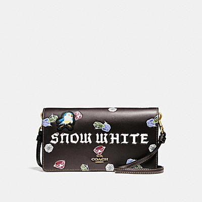 DISNEY X COACH SNOW WHITE FOLDOVER CROSSBODY CLUTCH