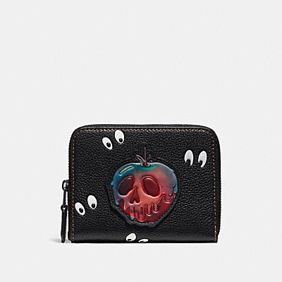 DISNEY X COACH SPOOKY EYES(陰森大眼)印花小型拉鍊皮夾