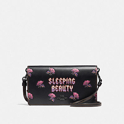DISNEY X COACH SLEEPING BEAUTY(睡美人)折疊斜背手袋