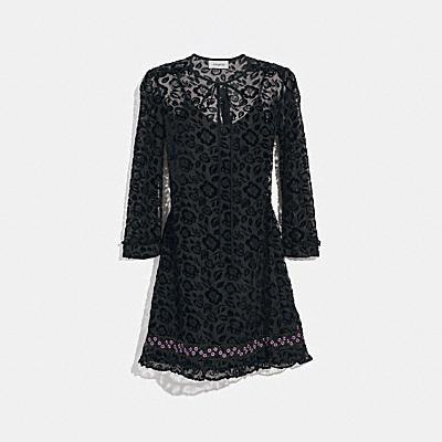 데코 프린트 드레스 위드 넥타이