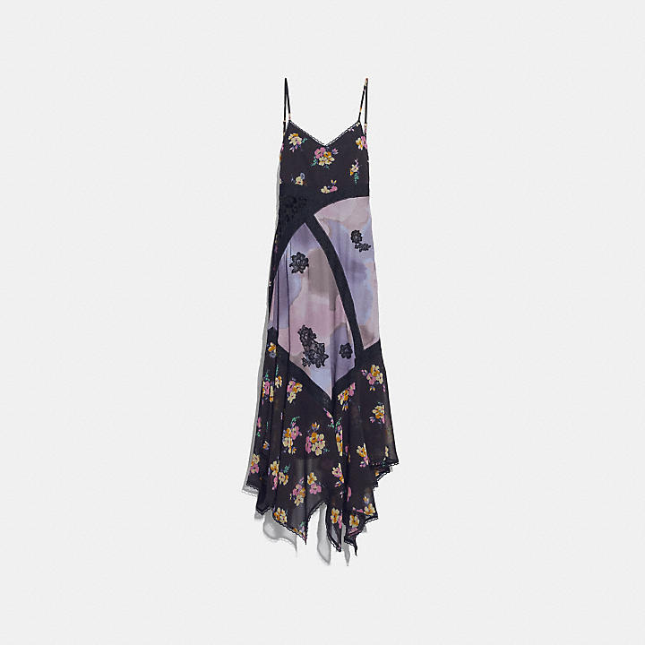Coach mixed print slip dress Outlet 2018 Visit New Online Get Authentic For Sale Pick A Best Cheap Price KfIlBvfd