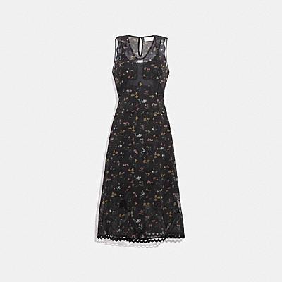 ワイルドフラワー プリント スリーブレス ドレス