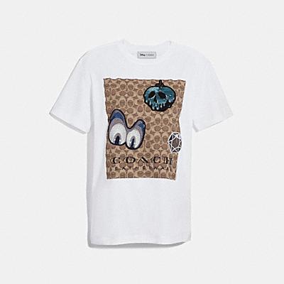 디즈니 X 코치 시그니처 티셔츠 위드 패치