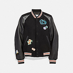 DISNEY X COACH VARSITY JACKET - BLACK - COACH 33205