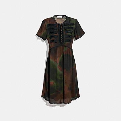 タイ ダイ プリント ミリタリー ドレス