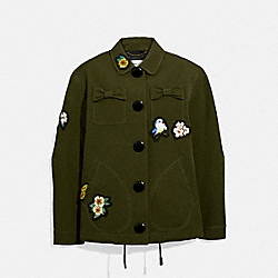 DISNEY X COACH COACH'S JACKET - KHAKI GREEN - COACH 33270