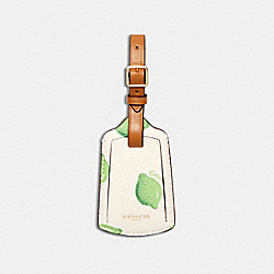 LUGGAGE TAG WITH LIME PRINT - IM/CHALK GREEN MULTI - COACH 3340
