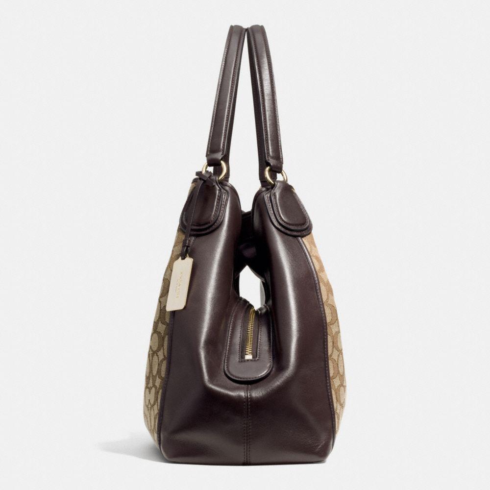Edie Shoulder Bag in Signature Jacquard - Alternate View A1