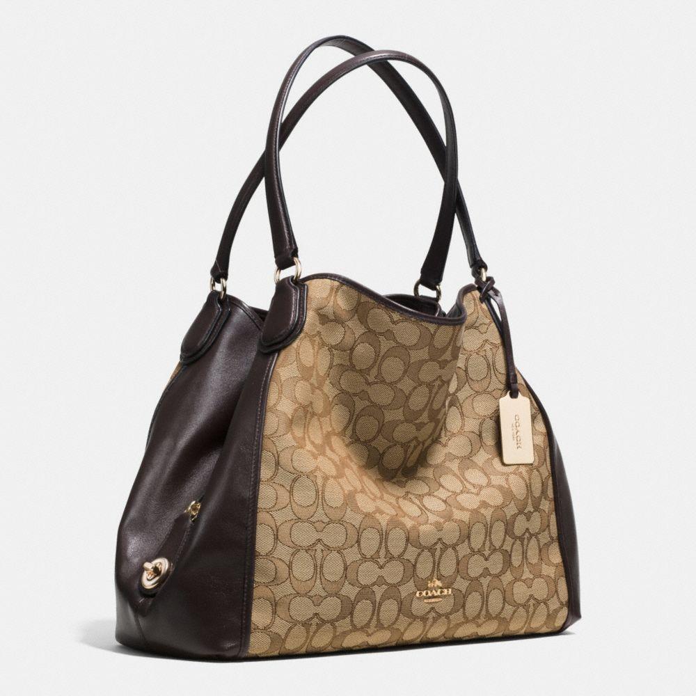 Edie Shoulder Bag in Signature Jacquard - Alternate View A2