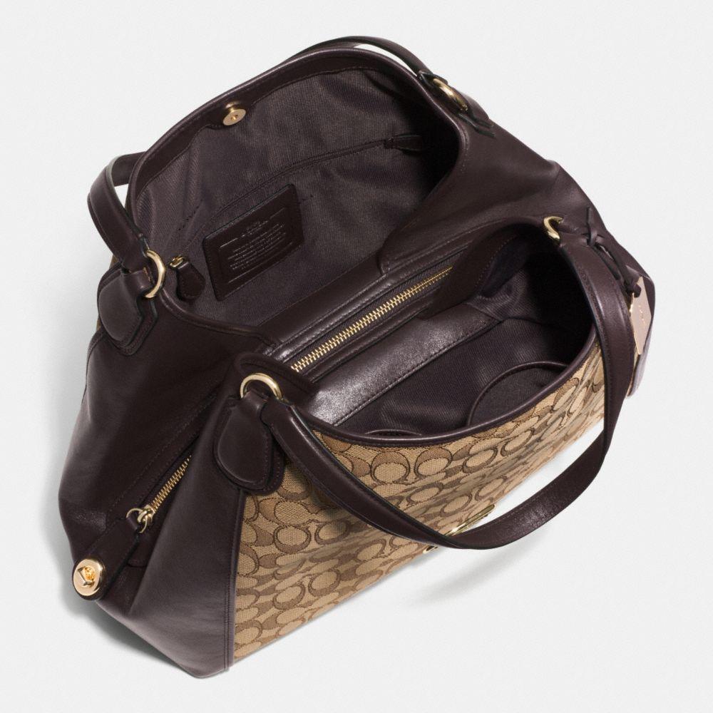 Edie Shoulder Bag in Signature Jacquard - Alternate View A3