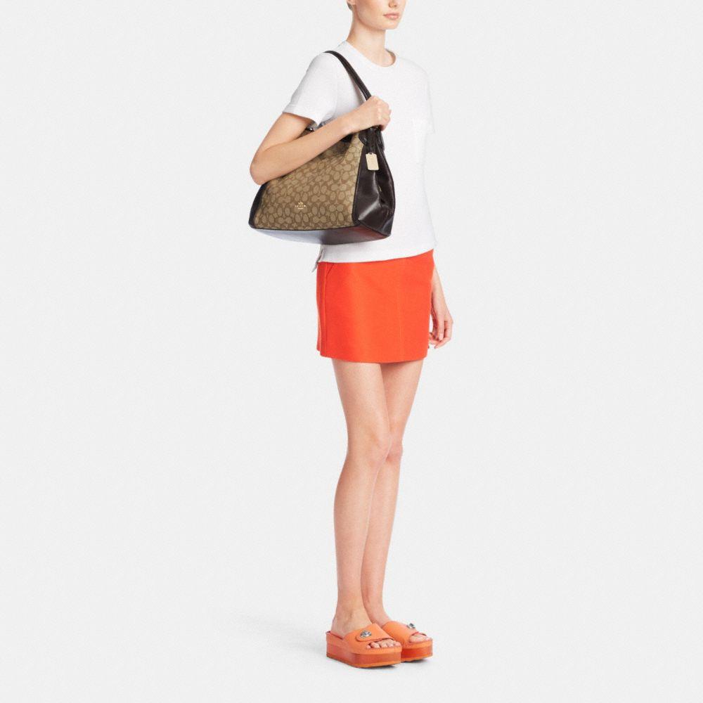 Edie Shoulder Bag in Signature Jacquard - Alternate View M