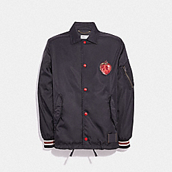 DISNEY X COACH POISON APPLE COACH'S JACKET - BLACK - COACH 34202