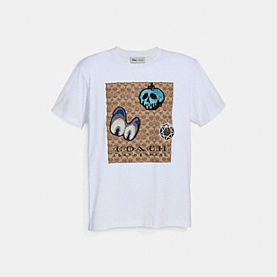 DISNEY X COACH SIGNATURE T-SHIRT WITH PATCHES