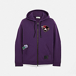 DISNEY X COACH DOPEY HOODIE - PURPLE - COACH 34219