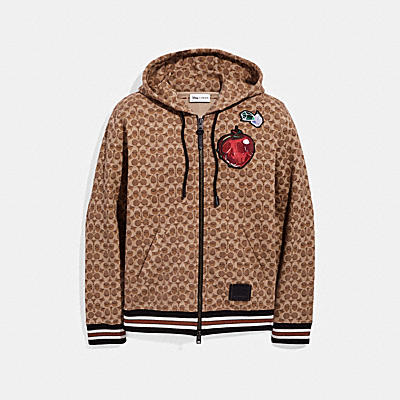 DISNEY X COACH SIGNATURE HOODIE WITH PATCHES
